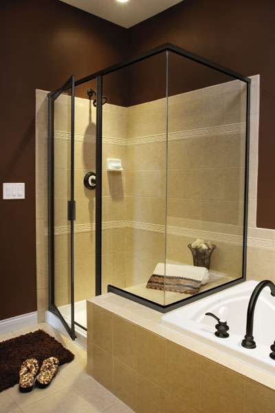 Robb 39 s glass inc custom shower doors - Shower cubicles for small spaces decoration ...
